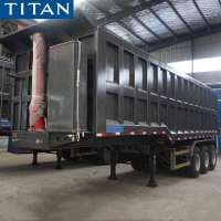 China Heavy Duty Rock Dump Tractor Tipper Trailer for Tanzania on sale