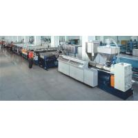 China High speed PE/PP/PC hollow profile sheet extrusion line on sale