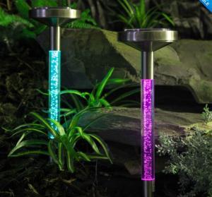 Multicolor Solar sparkling bubble Tube light for garden lawn decoration Manufactures