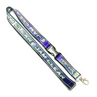 China Heat Transferred Screen Printed Lanyards Purple Grounding For Sports Competition Event on sale