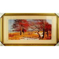 China Hand Embroidery Landscape Paintings for Home Decoration on sale