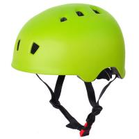 China Lime green pc toddler skate helmet, light weight pro scooter helmet on sale