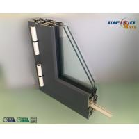 Gray Color Double Layers Glass Aluminium Window Profiles / Combined Windows Manufactures