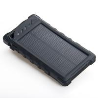 Outdoors 8000mAh Dual USB Waterproof Solar Power Bank with Camping light and Counterfeit Detector Manufactures