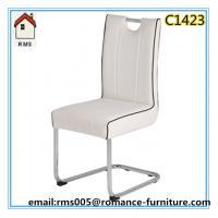 2015 new dining chair white leather dining chair for sale C1423 Manufactures