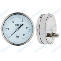 High precision welding pressure gauge 160mm with polish stainless steel case Manufactures