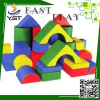 Colorful Soft Play Sponge , Soft Baby Blocks D4605 No Toxic For Preschool Manufactures