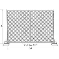 "6' x 10' ""Smart Kids"" temporary chain link fence panels 1.625""(41.2mm) Outer Diameter zinc coated minimum 300gram/sqm Manufactures"