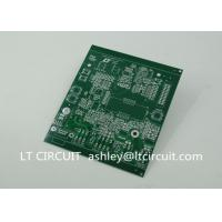 Double Sided 3oz Blank Copper Pcb Board Immersion Silver Plating Green Solder Mask Manufactures