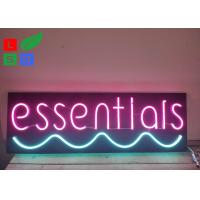 Neon Window Signs With DC 12 Volt Black Backing Pink Words Using At Home Manufactures