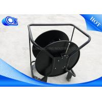 Non Armored / Armored Tactical Fiber Optic Cable Reel Black Color Manufactures