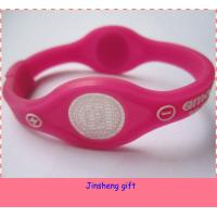 Quality 2014 colorful magnetic balance silicon power bracelet for sale