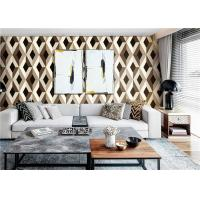 Contemporary 3D PVC Wallpaper / 3D Effect Wallpaper For Walls , Water Ink Printing Manufactures