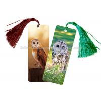 Eco - Friendly Kids 3D Lenticular Custom Plastic Bookmarks With 0.6mm PET For Gift / Premium Manufactures
