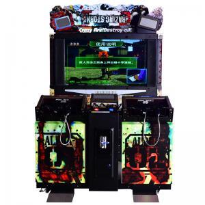 Wholesale 55 inches Crazy Destroy Simulator Gun Shooting Arcade Game Machine Coin Operated Gun Amusement Game Machines Manufactures