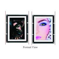 Shop Window Ultra Slim Acylic Crystal LED Light Box For Portrait View Wall Mounted Manufactures