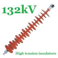 China Safety 132kV Composite Polymer Insulator , Red IEC61109 Powerline Insulators on sale