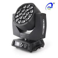 China 19Pcs * 12W Beam RGBW 4in1 Led Zoom Wash Moving Head Dispiay Light on sale