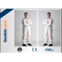 Long Sleeve Disposable Full Body Protection SuitWhite Color Non Woven Coverall S-3XL Manufactures