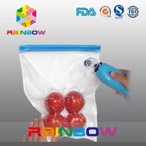 Plastic food vacuum seal bags / vacuum food storage packaging Manufactures