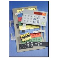 industrial keyboard ,embossed with many leds and windows for alarm and measuring system Manufactures