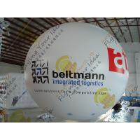 Quality Bespoke Helium Inflatable Advertising Balloon , 0.18mm PVC Sealed Inflatable Sphere for sale