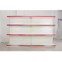 China Single - side Store / Supermarket Display Shelving with 4 Layers Perforated Back Panel on sale