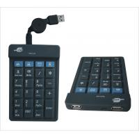 China Numerical  Flexible Usb Keypad with USB Hubs JH-HSFR23 on sale