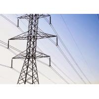 China Welded 4 Angle Steel Transmission Tower 5m - 100m Height High Yield Strength on sale