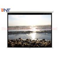 Smoothly High Quality PVC Fabric Auto-locking Manual Projector Screen 100 Inch 4:3 Format Manufactures
