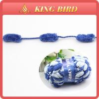 soft colorful Fancy Knitting Yarns / feather eyelash yarn for sweater Manufactures