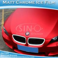 China SINO PVC Material Stretchable Matt Chrome Car Wrapping Sticker 1.52x20m on sale
