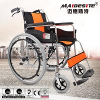 Comfortable Aluminium Folding Wheelchair Skid Proof Handle Brake / Rear Brake Manufactures