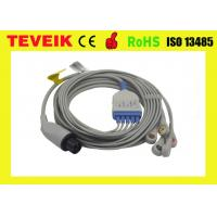China 5 leads ECG cable with snap ,AHA,round 6pin for Mindray patient monitor, Medical ECG cable on sale
