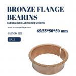 Flange Sleeve Bushings 65 / 55 * 50 * 50 DIN1494 Split Sliding Bearing With Oil Socket Manufactures