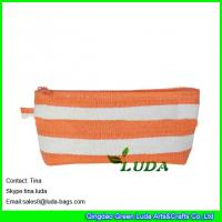 China LUDA striped paper cloth cheap purses lady straw evening handbags on sale