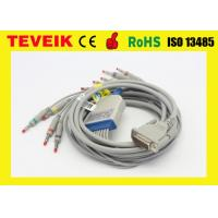 China 10 Lead Banana 4mm Schiller Ecg Holter Ekg Cable With Protection Resistor on sale