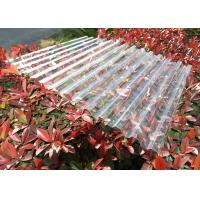 Clear Plastic Corrugated Polycarbonate Sheets 0.8 Mm-3.0mm Weather Resistance for sale