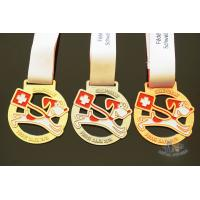 Buy cheap Cut out medals, Animal medailles with sublimated ribbon, Plating gold/silver from wholesalers