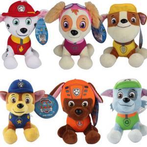 China Fashion Cartoon Paw Patral Plush Stuffed Toys 20cm For Crane Vending Toy Machine on sale