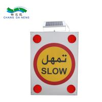 China Singapore solar battery traffic road signs with led 3M reflective film on sale