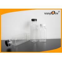 China 250ml 350ml 500ml Square Plastic Juice Bottles Wholesale with White Tamperproof Cap on sale