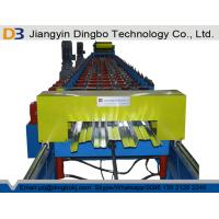 Roller Material 45# Steel Metal Roof Floor Decking Roll Forming Machine for Construction with Chain Drive Manufactures