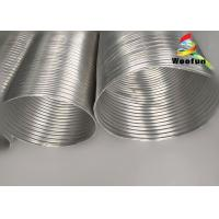 Fire Resistant Aluminum Flexible Duct Pipe Clean Surface For HVAC System Manufactures