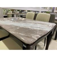 China Pine Frame Nordic Marble Dining Table , White Marble Dining Table on sale