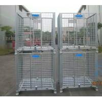 Large Stackable Steel Wire Mesh Cage W1200 * D1000 * H890mm Galvanized Finishes Manufactures