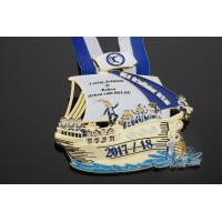 Buy cheap Sailboat Custom Logo, Carnival Orden Medaille Soft Enamel With 3D Effect, Many Stones On Medallion from wholesalers
