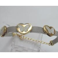 Hot Selling Stainless Steel Bracelets Costume Jewelry with Heart and Butterfly Designs Manufactures