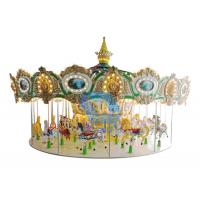 Modern Theme Park Carousel 4.8m Height Kids Outdoor Merry Go Round With Cover Manufactures