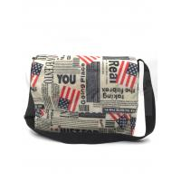 420D Polyester Travel Messenger Bag Pouch With Printing / Embroidery Logo Manufactures